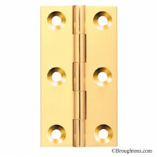 63mm x 35mm Butt Hinge Polished Brass Unlacquered