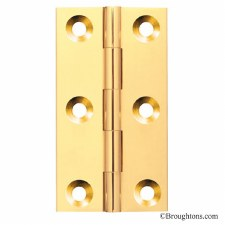 Butt Hinge 75mm x 35mm Polished Brass Unlacquered