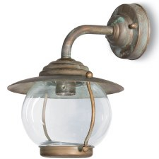 Bolzano Wall Bracket Swan Neck Arm Light Aged Copper