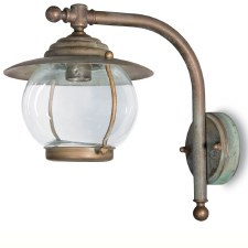 Bolzano Wall Bracket Projection Arm Light Aged Copper