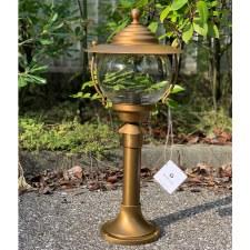 Bolzano Small Pillar Light Aged Brass