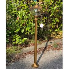 Bolzano Medium Pillar Light Aged Brass