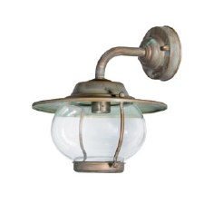 Bergamo Wall Bracket Swan Neck Light Aged Copper