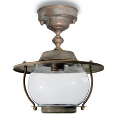 Bergamo Fixed Pendant Porch Light Aged Copper