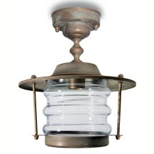 Aprilia Fixed Pendant Porch Light Aged Copper