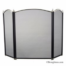 Dynasty Fire Screen Black & Pewter