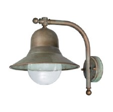 Forli Wall Bracket Projection Arm Dome Light Aged Copper Clear Glass