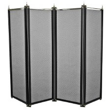 Regency Folding Fire Screen Black & Pewter