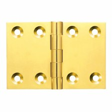 32mm x 48mm Back Flap Hinge Polished Brass Unlacquered