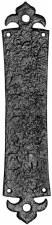 Kirkpatrick 2156 Finger Plate Fleur de Lys 2156 Antique Black