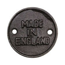 Made In England 45mm Plaque - Aged Iron