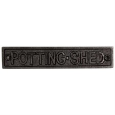 Potting Shed Door Sign Aged Iron
