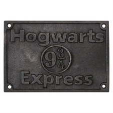 Hogwarts 9.3/4 Express Door Sign Aged Iron