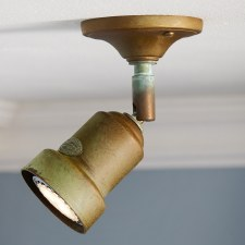 Compact Single Spot Light Aged Copper