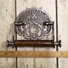 The St.Pancras Fixture Roll Holder Waxed Iron
