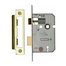 Heritage 3 Lever Sashlocks YKASL32 Polished Brass 2.5""