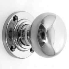 Bun Door Knobs Polished Chrome