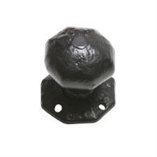 Kirkpatrick Octagonal Door Knobs 3056 70mm Antique Black