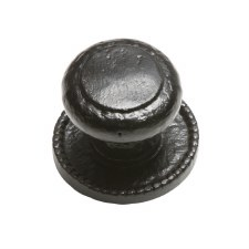 Kirkpatrick 3066 Centre Door Knob Round Rose Antique Black