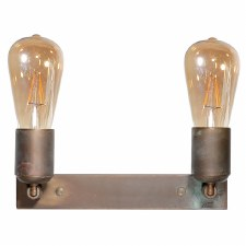 Otranto Double Wall or Ceiling Light Aged Copper