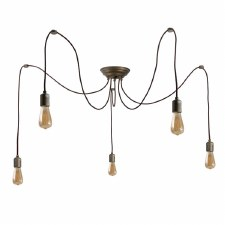 Otranto 5 Light Spider Pendant Aged Copper
