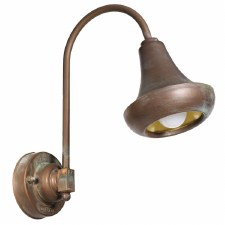 Bosa Bracket Wall Light Aged Copper