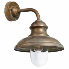 Como Small Wall Light Aged Copper with Clear Glass
