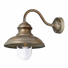 Como Swan Neck Wall Light Aged Copper with Clear Glass 250mm