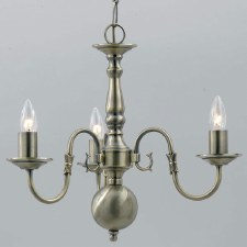 Flemish 3 Arm Chandelier