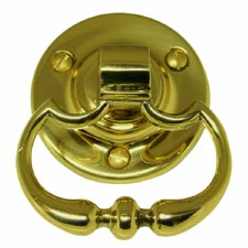 Mortice Ring Handles Polished Brass