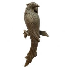 Bird of Paradise Door Knocker Antique Iron