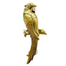 Bird of Paradise Door Knocker in Brass