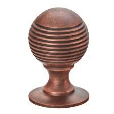 Croft 4101 Reeded Ball Cabinet Knob Autumn Bronze 26mm