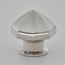Croft 4103 Octagonal Cabinet Knob Polished Nickel