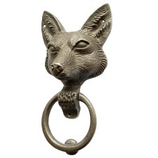 "Fox Door Knocker 9"" Antique Iron"