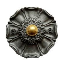 Eppleworth Flower Door Bell Push Antique Iron