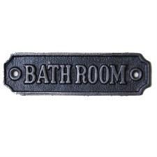 Bathroom Door Sign Antique Iron