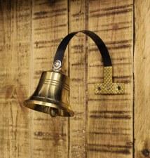 Large Shop Door Bell Brass & Steel