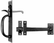 Kirkpatrick 4320 Heavy Suffolk Thumb Latch Smooth Black
