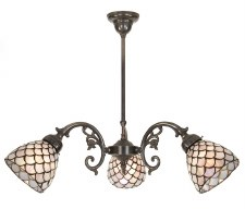 45º Large 3 Arm Chandelier Bronze
