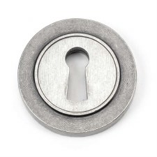 From The Anvil Round Escutcheon Plain Pewter