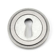 From The Anvil Round Escutcheon Art Deco Pewter