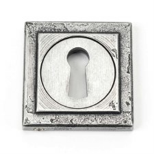 From The Anvil Round Escutcheon Square Pewter