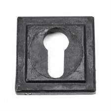From The Anvil Round Euro Profile Escutcheon Square External Beeswax