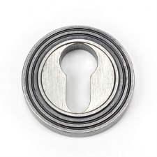 From The Anvil Round Euro Profile Escutcheon Beehive Pewter
