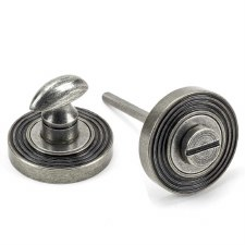 From The Anvil Round Thumbturn Set Beehive Pewter