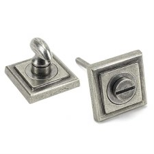 From The Anvil Round Thumbturn Set Square Pewter