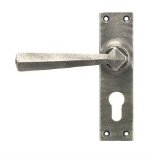 From The Anvil Straight Handles Euro Profile Antique Pewter