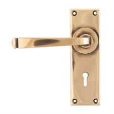 From The Anvil Avon Lever Door Lock Handles Polished Bronze