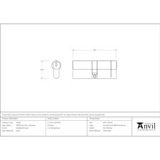 From The Anvil Euro Lock Cylinder 40/40 Polished Bronze Key Differ